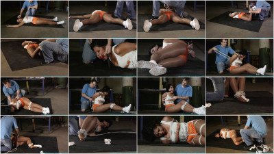 Futile Struggles - Sahrye Carried, Balltied, Gagged With Her Own Socks