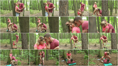 Amy Red, Max Dyor — Horny couple outdoor fuck in public FullHD 1080p