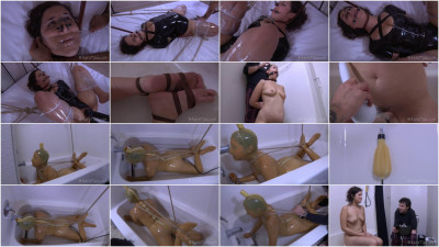 Wet Wrapped Marina - media video, cum, love, wet