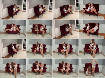 Classic Damsel-in-distress as Two Girdle-Bound Roommates Attempt Escape, plus Ots!