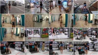 Shopping no panties