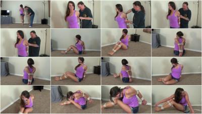 Naughty Ties - Heather's Virgin Elbow Bondage!