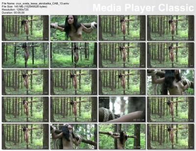CruxDreams - Sveta and Tessa Champagne Crucifixion 13 DVD
