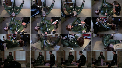 Super bondage, domination and torture for sexy model in latex