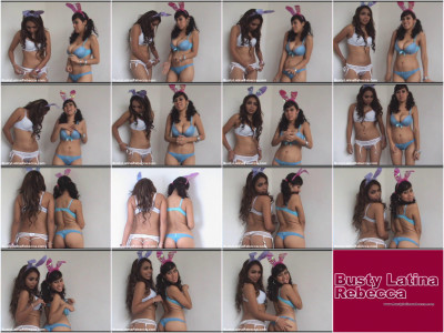 busty lesbians rebecca and karen in erotic calendar shot