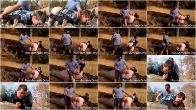 Keagan's Tearful Outdoor Spanking