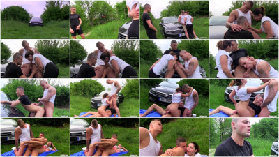 watch gay threesome - (Horny Mixed Trio Pumping Their Asses)