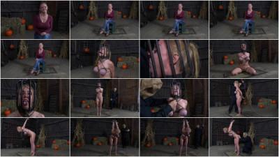 Big breasted blonde Darling trained for brutal deepthroat in headcage (balls, download, leather, brutal)