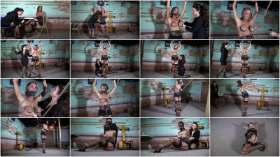 Super torture and bondage for sexy the blonde girl