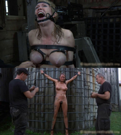 Hard bondage, suspension, hogtie and torture for hot slut (part 2)
