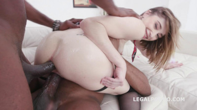 Lana Bunny gets first time 2 BBC with DP & Swallows