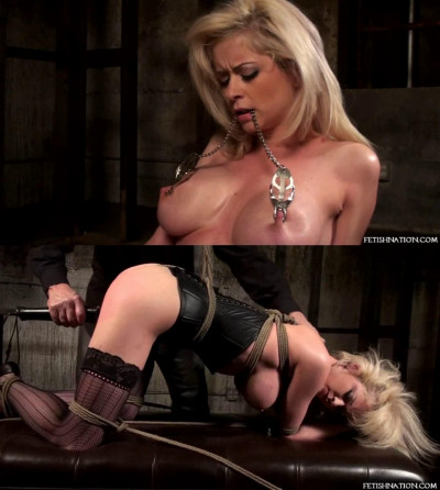Super bondage, strappado and torture for very hot blonde part2