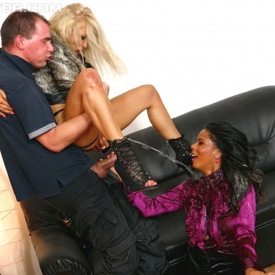 show watch (Fully Clothed Naughty Chicks Both Take Their Turn Riding That Cock).