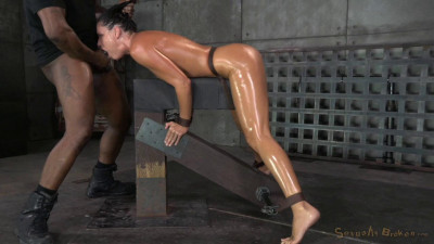 Description India Summer shackled down and used hard by two cocks at once, massive orgasms!!