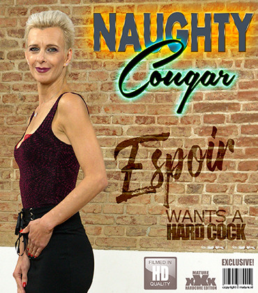 Horny cougar Espoir is hungry for cock FullHD 1080p