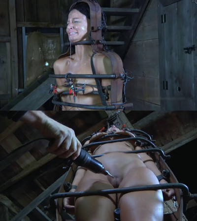 Hard bondage, spanking, strappado and torture for naked slut (part2)