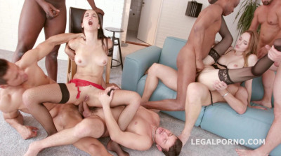 8on2 Gangbang Party For Hot Anal Sluts