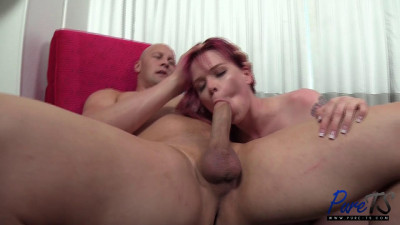 Baby Rebecca – super submissive TS does what she is told