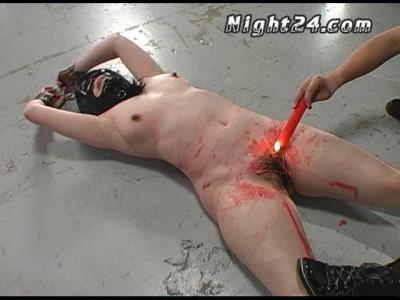Slave in mask Sakurada Ayumi extreme torture punishment action.