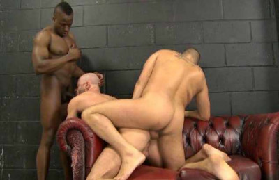 Big raw cocks in interracial anal party
