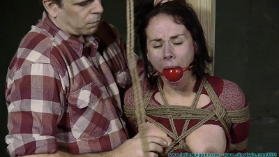 Cherry Doll Caged, Walked, Clamped, Hogtied – Part 2