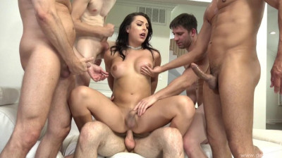 Hard Gangbang For Beauty Shemale
