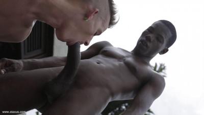Little white boy prefers big black dick
