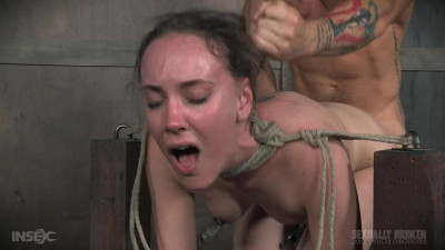 Cute girl next door, suffers brutal deepthroating
