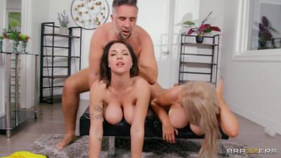 Hot 3Way With Big Natural Tits Babes Gabbie Carter & Skylar Vox