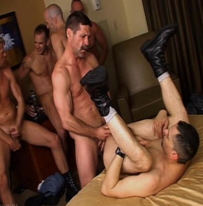 Military Raw Orgy With Mature Men