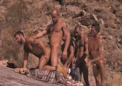 Arabian Men In Outdoor Orgy