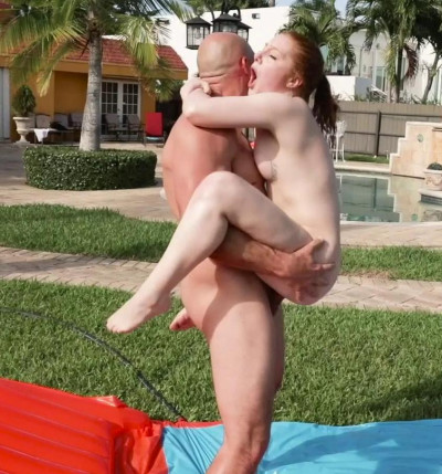 Amber Addis Tiny Cum In The Sun HD 720p