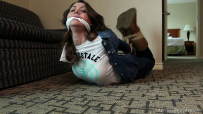 Captive Chrissy Marie - Bound & Burgled In Her Jean Jacket & Boots 1080p
