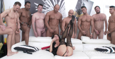 Hot Milf Veronica Avluv In Double Anal Gangbang With Ten Huge Cocks