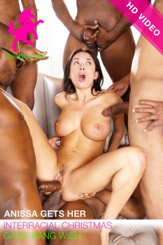 Anissa Gets Her Interracial Christmas Gang Bang Wish