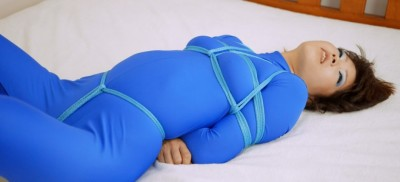 Restricted Senses - Blue Catsuit Bound