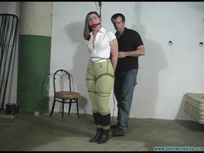 Equestrian Disciplined With Tight Bondage And a Tighter Gag — Blue — Part 1