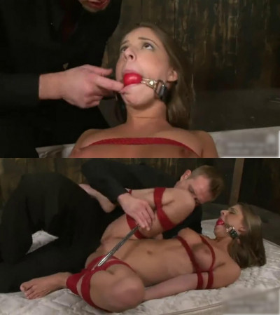 Hard bondage, torture and strappado for naked slut (part 1)