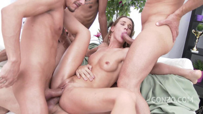 Alexis Crystal triple penetration first time four monster cocks (2018)