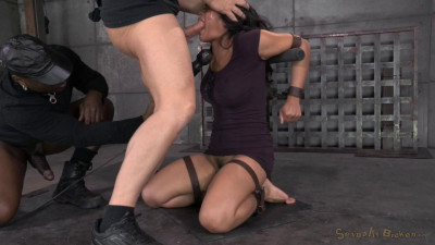 Mia Li Gets Bound And Face Sex By Bbc, Brutal Deep Throat On 2 Dicks
