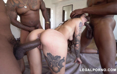 Description Perfect Luna Lovely Gangbanged & DP'ed By 3 Big Black Cocks