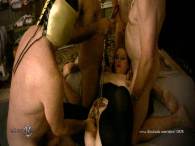 SlaveM  – Clip4sale – Three Tormentor Fuck And Torment Their Slave