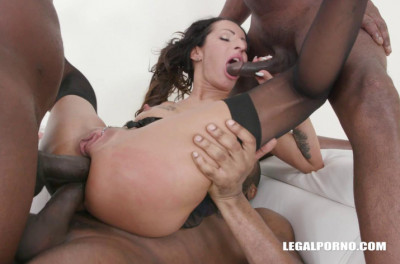 Interracial Orgy With Double Anal & Many Sperm