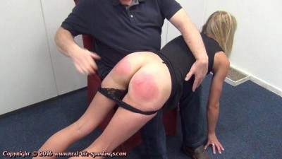 Description Jentina's first spanking