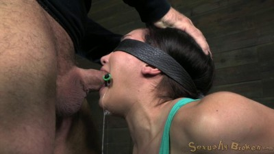 SexuallyBroken  Gabriella Paltrova blindfolded shackled
