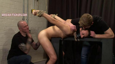 Sergei – Tied, gagged, bare-handed spanking, nipples clamped, flogged