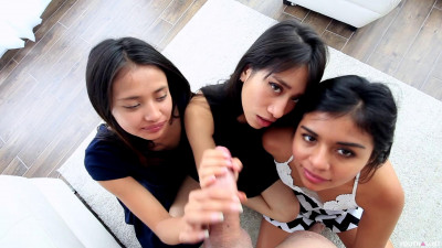 YouthLust – Three Teens Share Cum