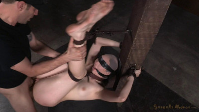 Pale Beauty Aria Alexander Blindfolded And Tag Team Fucked By Hard Cock While Strictly Restrained
