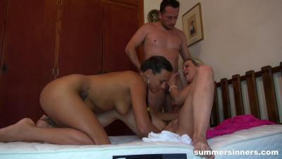Summer Bedroom Threesome