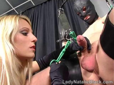 Lady Natalie Black - Clamped Stretched